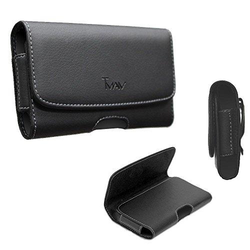 Motorola Moto E5plus Beutel Hülle Schutzhülle (PU Leder), tman Seite Way Tasche [Holster] Clip Gürtel Beute Motorola Moto E5plus/E5Supra (passt das Handy w Dick Hybrid Fall auf/Otter Box auf)