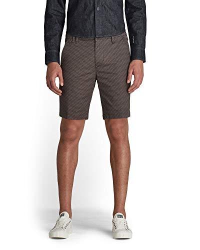 G-STAR RAW Mens Vetar Chino Bermuda Shorts, carbid Micro 3x1 C312-C437, 32W