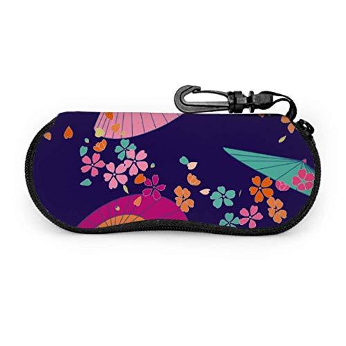 sherry-shop Estuche de gafas con mosquetón Paraguas tradicional japonés Sakura Gafas de...