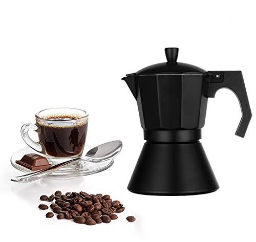 Aluminium Mokka-Topf, Espressokocher für 3/6 Tassen, Moka Espresso Kaffee Perkolator für köstlichen Kaffee 6 Tassen