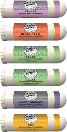 Wild Essentials Relaxation 6 Aromatherapy Nasal Inhaler Multi Pack Made with 100% natural, therapeutic grade essential oils to help keep you chill and relaxed