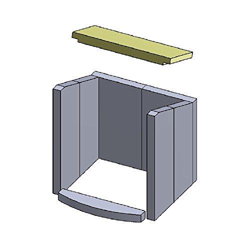 Flamado Feuerraumauskleidung Heizgasumlenkplatte geeignet für passend für Hark Kamin Ersatzteile Kaminofen Brennraumauskleidung Vermiculite 385 x 175 x 30 mm 1.150°C