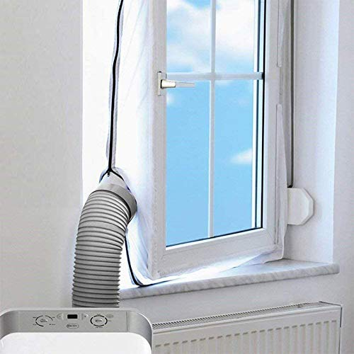 Fensterabdichtung Klimaanlage 400CM Auslass Für Mobile Klimageräte und Abluft-Wäschetrockner, AirLock Für Fenster, Dachfenster, Kippfenster