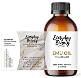 Pure Australian Emu Oil - All Natural 6X Refined for Face, Skin and Hair - Highly Effective Hydration for Sensitive Skin and Hair Growth - Perfect for Scars and Blemishes - Naturally rich and balanced in essential omega 3, 6 and 9 fatty acids - 2oz