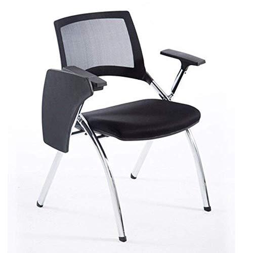 LHQ-HQ Sillas Presidente de la Junta de escritura plegable de múltiples funciones de oficina acolchados y sillas plegables de recepción de la tableta for facilitar el almacenamiento de 55 × 58 × 85 cm