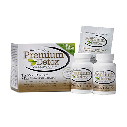 Herbal Clean Detox Cleanse, Premium 7-Day Kit Detox Caps-40caps