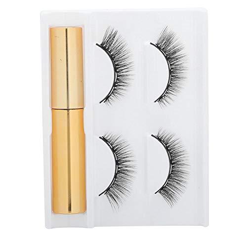 Magnetic Eyelashes Set, 2 Pairs of Magnetic Eyelashes and 1 Magnetic Liquid Eyeliner Natural Look & Reusable Waterproof Lasting, Eyelash Extension Tool (02)