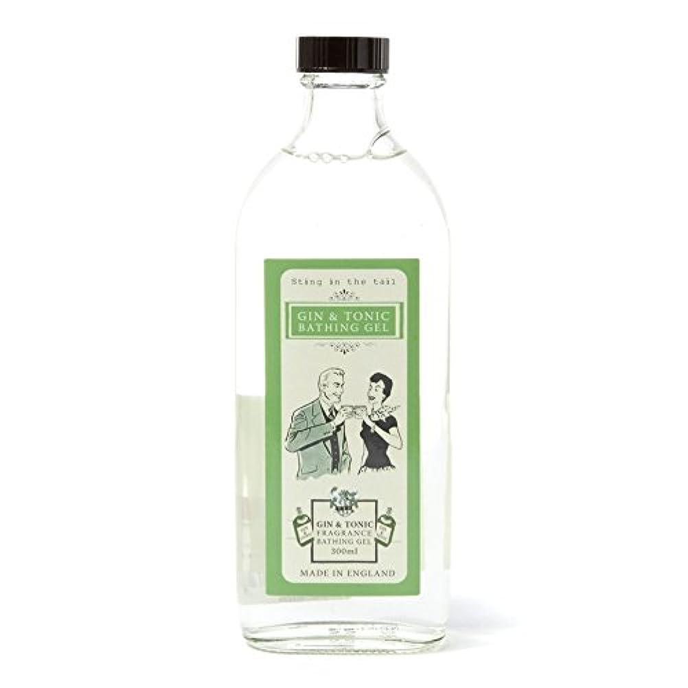 仕事排他的初期Sting In The Tail Gin and Tonic Bathing Gel 300ml (Pack of 6) - テールジントニック入浴ゲル300ミリリットルで刺します x6 [並行輸入品]