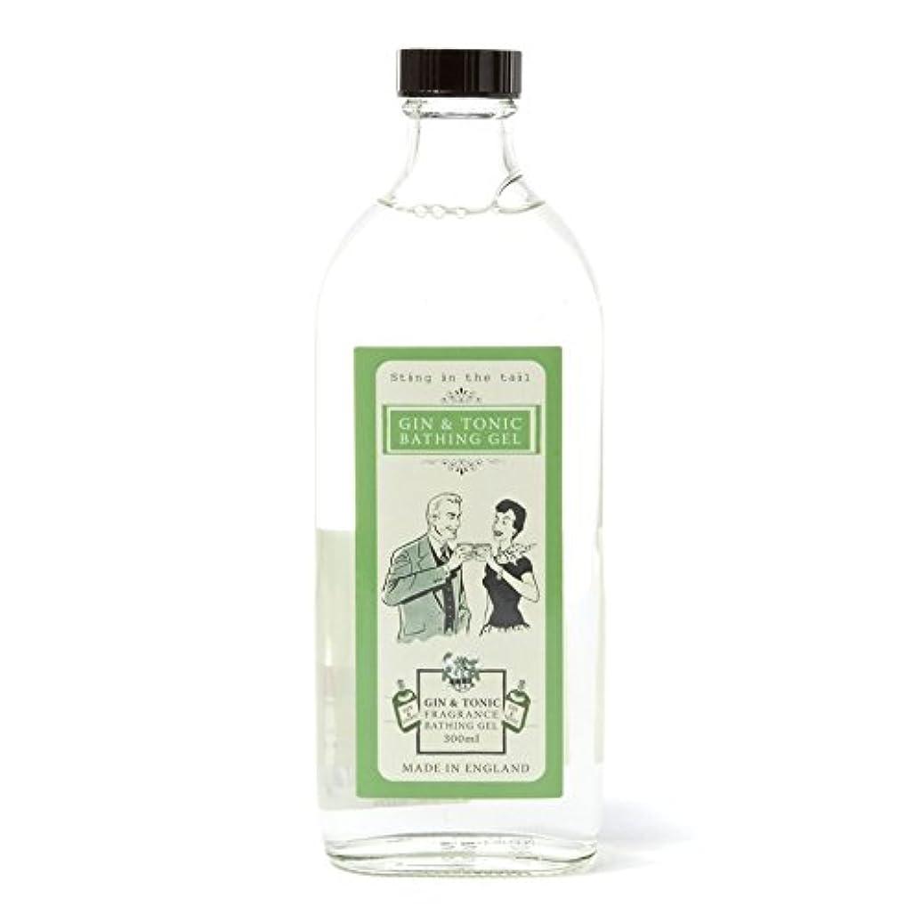 定規店員美人Sting In The Tail Gin and Tonic Bathing Gel 300ml - テールジントニック入浴ゲル300ミリリットルで刺します [並行輸入品]