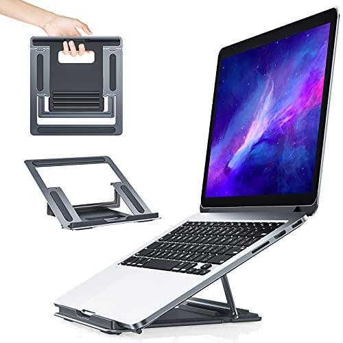 Anozer Soporte Laptop,Soporte Portátil Mesa de Aluminio,Porte Plegable Ventilado Adjustable Múlti-Ángulos Compatible...