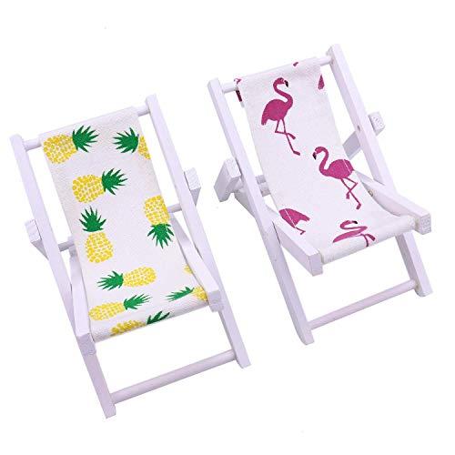 YDOZ 2er-Pack Strand-Stuhl Telefon-Standplatz Ananas Aus Holz Strand, Stuhl, Schreibtisch for Smart Telefon-Standplatz