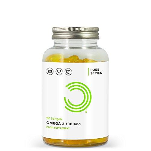 BULK POWDERS Omega 3 Fischöl Weichkapseln, 1000 mg, 90 Kapseln