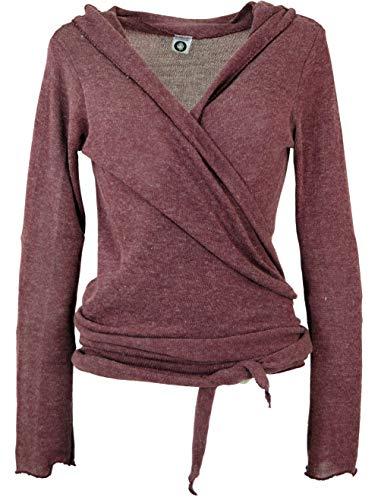 GURU SHOP Wickelshirt, Baumwollstrick Pullover, Wickeljacke, Damen, Altrosa, Baumwolle, Size:L (40), Pullover, Longsleeves & Sweatshirts Alternative Bekleidung