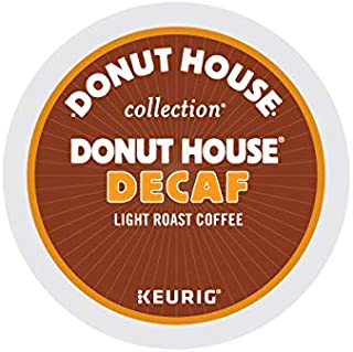 Donut House Collection, Decaf, Single-Serve Keurig K-Cup Pods, Light Roast Coffee, 72 Count (3 Boxes of 24 Pods)