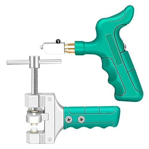 Tagliapiastrelle,Kit di utensili per tagliavetro manuale in lega di alluminio resistente,Set di divisori per piastrelle in vetro ad alta durezza per alimentazione olio Utensili da taglio professionali