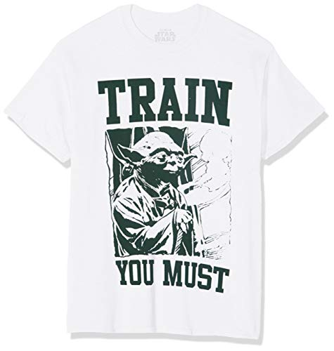 Star Wars Yoda Train Camiseta, Blanco (White White), XX-Large para Hombre