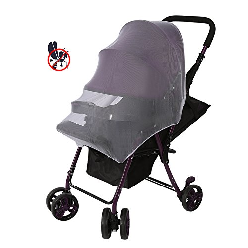 Yosoo Baby Mosquito Net Cart Full Cover Travel System Insect Netting Mosquito Insect Bee Bug Net for Baby Strollers, Bassinets, Cradles and Car Seats Safe Mesh White Buggy Cover