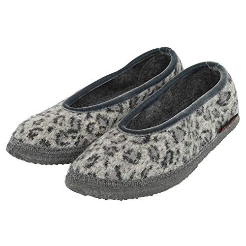 GIESSWEIN Hausschuh Lauenau - geschlossene Damen Hausschuhe im Ballerina Design | Warme Filz Pantoffeln aus 100% Wolle | leichte Filzhausschuhe