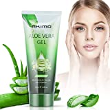 AKIMO Aloe Vera Gel & Vitamin C, E – 99% Pure Plant Deeply Hydrating & Repairing, After Sun Care, Dry Skin Hydration, Acne, Suitable for Face, Body, Hair, Cruelty-free, 200ml/6.8 fl oz