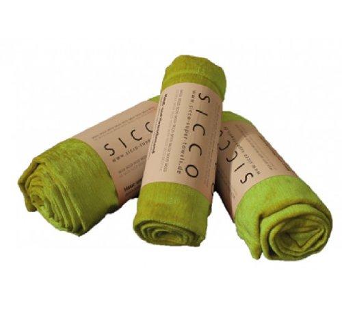 Wirth SICCO Set Wellness 1x Handtuch 60 x 90 cm / 2x Duschtuch 70 x 130 cm Mikrofaser, Set, Handtuch Microfaser, grün