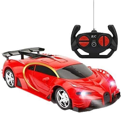 zeyujie RC Racing 2.4GHz 4W Steering servo high Speed RC Racing Kids Monster Truck 1:18 Ratio RC Sports car Sports car Halloween Best Gift (Color: red) (Color : Red)
