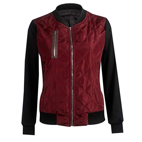 Daysing Damen Fruhling Herbst Bomberjacke Bikerjacke Fliegerjacke Kurz Leichte Jacke Motorradjacke College Jacke Mit Reißverschluss Outwear