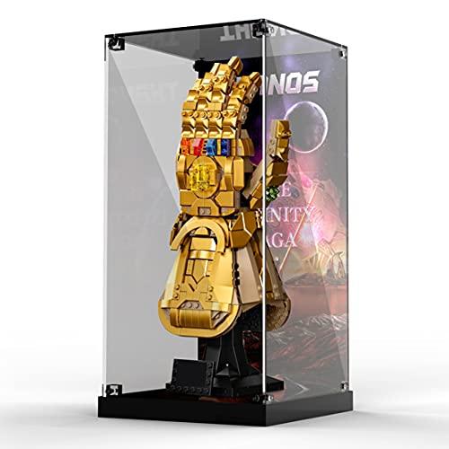 WEIZQ Acryl Schaukasten Vitrine Mit Beleuchtungsset Kompatibel Mit Lego 76191 Infinity Handschuh, Schaukasten Staubdicht Showcase Display Case (Ohne Modell Kit)