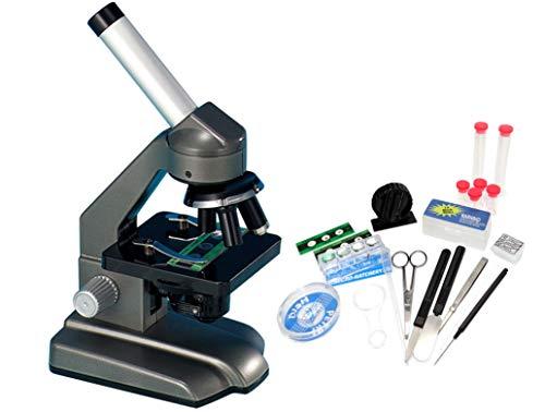 EDU-Toys Dual Mono - Mikroskop Schülermikroskop Wechselokulare Drehkopf Zubehör 40-640x