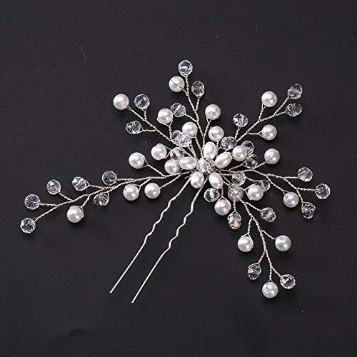 Wedding Hair Needle Pearl Flower Hair Clip Mariée Coiffure Lady Bijoux Bijoux Argent