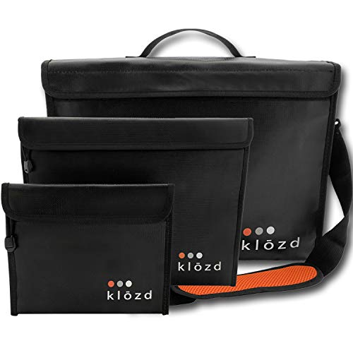 KLOZD Fireproof Document Bags