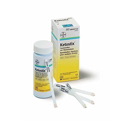 Bayer Ketostix® Keto-Teststreifen Urinteststreifen, Harnzucker, Ketose, 50 Stück