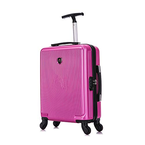 Toctoto 55x40x20cm / 55x35x20cm / 52x33x20cm Espandibile+TSA, Lightweight Ryanair Maximum Size Carry On Hand Cabin Luggage,Bagaglio a Mano Unisex (20'(55cm-38l)-fucsia, 20'(55cm-38L))