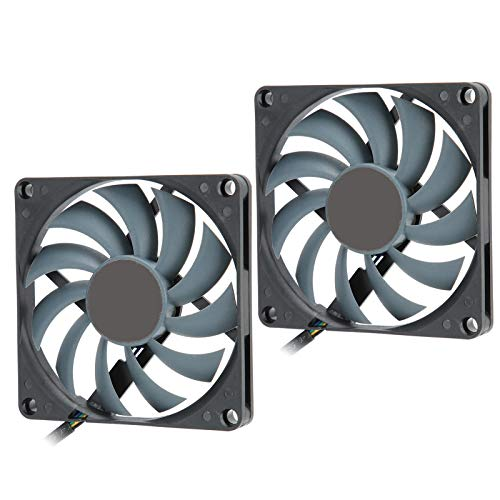 SC8010KH12H-P Ventilador de Caja de computadora, 2 Piezas 12V 0.15A 3000RPM Ventilador de disipación de Calor 4 Pines PWM Control Inteligente de Temperatura Ventiladores de PC de enfriamiento