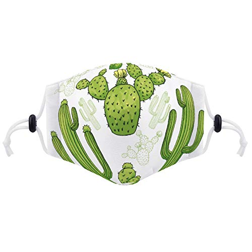Face Covering Protective Shield Reusable Anti Dust Mouth Ma (with Two Filters) Cactus Green Plant Saguaro Vegetable Organism San Pedro Cactus Flowering Plant
