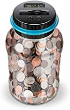 Lefree Digital Counting Money Jar,Big Piggy Bank,Piggy Bank for Kids,Piggy Bank Digital Counting Coin Bank,Money Saving Jar,Holds Over in 800,Powered by 2AAA Battery (Not Included)