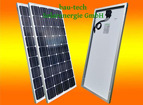 bau-tech Solarenergie 2 Stück 130Watt Solarmodul Solarpanel Photovoltaik Solarzelle 130W 12V Monokristallin GmbH
