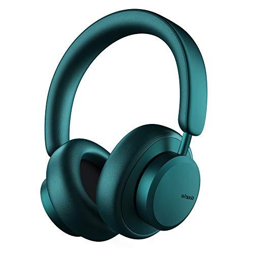 Urbanista Miami Cuffie Wireless Bluetooth On-Ear, 50 ore di Riproduzione, Cancellazione Rumori Attiva, Set con Microfono, Ricezione On Ear con Custodia per Trasporto, Verde Acqua