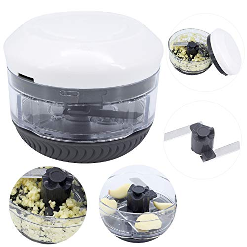 ShawFly Picadora manual de alimentos para verduras Mini trituradora manual de cebolla, picadora de ajo, picadora de carne, mezclador para picar frutas, verduras, hierbas, cebollas