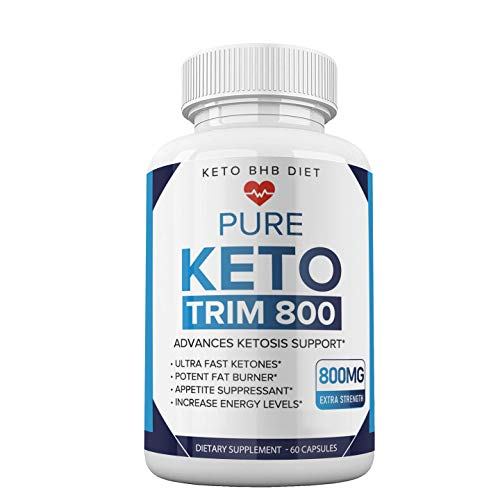 Keto Trim 800 Pills - Keto Trim BHB Diet Pill Supplement for Energy, Focus - Exogenous Ketones for Rapid Ketosis - Ketogenic BHB for Men Women (60 Capsules) 3