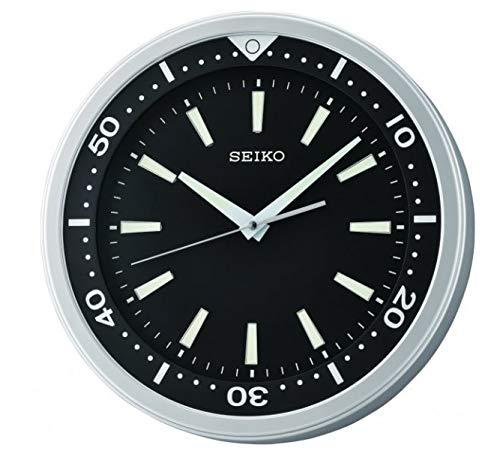 Seiko Plastic Wall Clock (35 cm x 35 cm x 5.4 cm, Black)