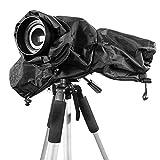 Ailiebhaus Lluvia cubierta protectora Funda impermeable para cámara Rain Cover para Canon Nikon y otros cámaras DSLR