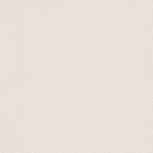 rasch Tapete 448641 aus der Kollektion Florentine II – Einfarbige Vliestapete in zartem Creme – 10,05m x 53cm (L x B)