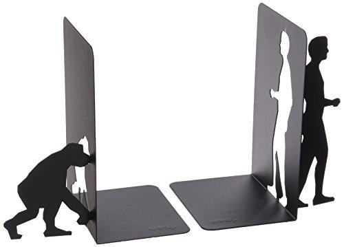 Doiy DYBOOKEBL boekensteunen Evolution Bookends, set van 2, 17,5 x 11 x 0,3 cm, metaal, zwart