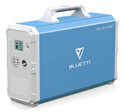 MAXOAK Power Station 2400Wh/1000W Inverter BLUETTI EB240 Portable Solar Generator Emergency Battery Backup Pure Sinewave 2AC Outlet Power Storage Multi-use Power Storage for Outdoor RV Van Home