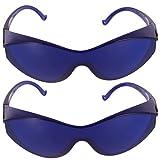 Artibetter 2 Piezas Gafas Protectoras Gafas Ipl Dispositivo de Depilación Gafas Anteojos Gafas de Seguridad a Prueba de Polvo para Cara Cuerpo Bikini Axilas Uso Doméstico (Azul)