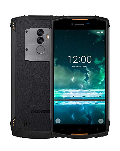 DOOGEE S55 Teléfono Móvil Libre Resistente 4G, IP68 Impermeable Octa Core 4GB + 64GB Smartphone Libres Android 8.0, 5500mAh 5,5 Pulgada HD+, Cámara 13.0MP+8.0M, GPS Impronta Digitale, Naranja
