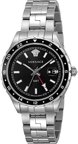 Versace Unisex Erwachsene Analog Quarz Uhr mit Edelstahl Armband V11100017