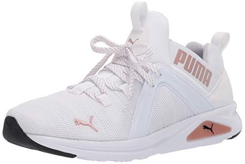 PUMA Women's Enzo Sneaker, White-Rose Gold, 6.5 M US