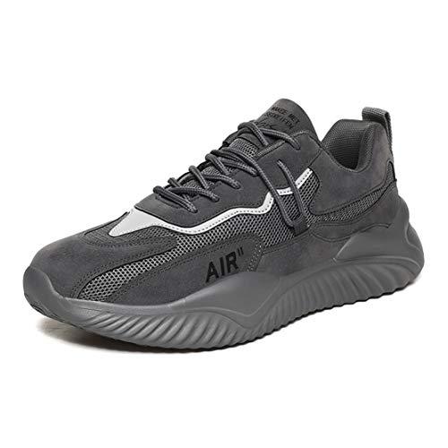 ADFD Zapatos para Correr Transpirables de Moda para Hombres Calzado Deportivo Clásico de Malla Suela Acolchada Adecuado para Todo Tipo de Deportes y Uso Diario,B,43