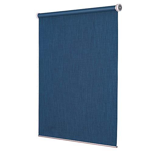 DS- Vorhänge Rolläden-Stoff Rollo Blau Verdunkelungsvorhänge, UV-beständig Leinen Rolläden for Heim und Büro (Größen können angepasst Werden) && (Size : 70x200cm)